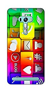 SWAG my CASE PRINTED BACK COVER FOR ASUS ZENFONE SELFIE Multicolor