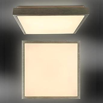 24W Moderne Warmweiß Deckenleuchte Flurleuchte LED Deckenlampe Silber Wandlampe
