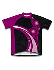 Raspberry Fusion Short Sleeve Cycling Jersey for Women