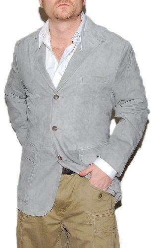 Polo Ralph Lauren Mens Suede Leather Sport Coat Blazer Jacket Gray 44R