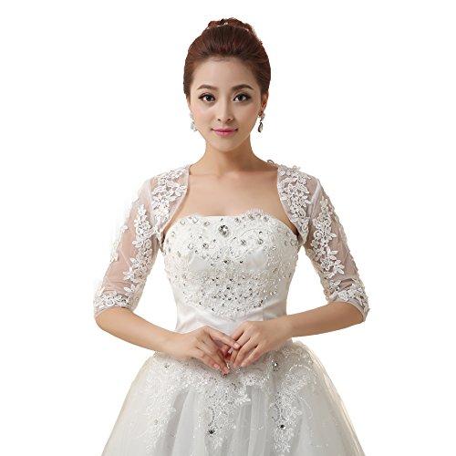 Beautygowns Women's Bridal Wedding Shawls Wrap Wraps Short Coat