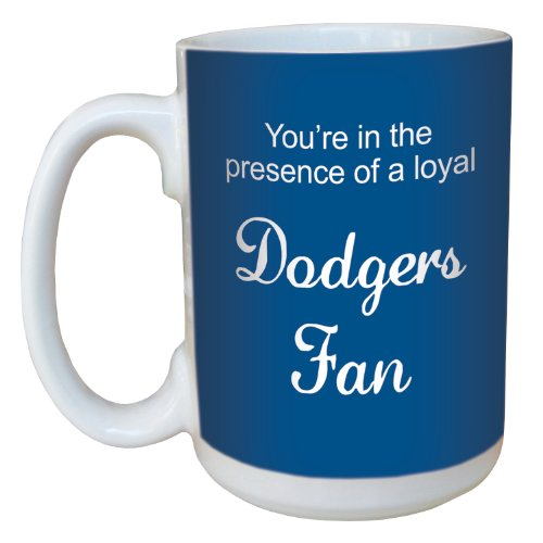 Tree-Free Greetings Lm44091 Dodgers Baseball Fan Ceramic Mug With Full-Sized Handle, 15-Ounce