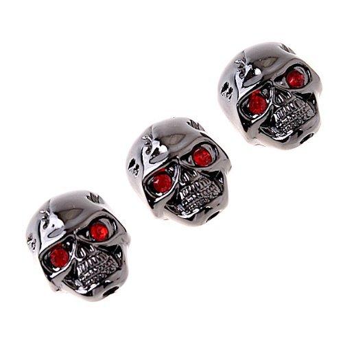 3Pcs Electric Guitar Volume Tone Control Knobs Black Skull Head Skull Knob