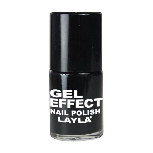 LAYLA COSMETICS Smalto Gel Effect N.10 Effetto Gel Onice Manicure Unghie
