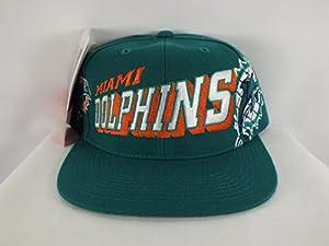 Buy Miami Dolphins NFL Sports Specialties Grid Snapback Hat Cap Aqua 1990's Vintage Deadstock by Pro Specialties