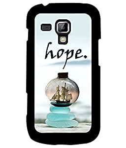 Fuson Premium Hope Metal Printed with Hard Plastic Back Case Cover for Samsung Galaxy S3 Mini i8190
