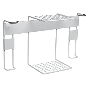Click to buy Garage Bicycle Storage: Racor BR-2R Double Vertical Bike Rack with Center Shelf from Amazon!