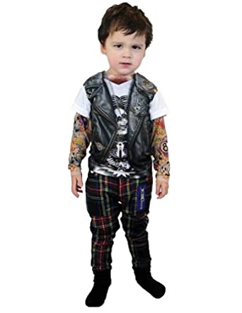 Kids-Costume Tattoo Long Sleeve Shirt Child Halloween Costume, Multicolored