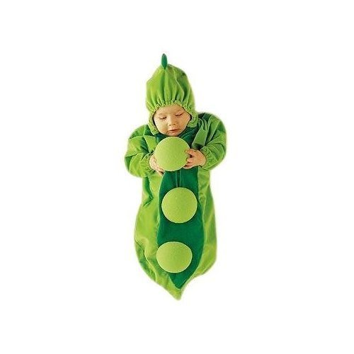 Baby pea fancy dress pea in pod Bag 3-6 months/Christmas Gift/fancy dress halloween stroller pram pushchair cozy fleece 3-6Months