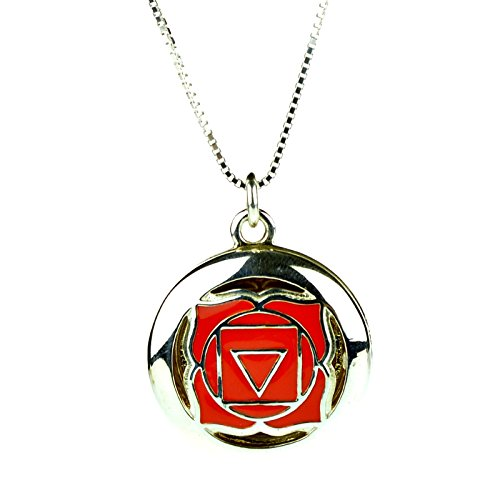 925 Sterling Silver 1st Root Yoga Seven Chakra Aromatherapy Essential Oil Diffuser Locket Necklace & 5 refill pads
