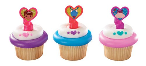 1 X 12 Disney's Doc Mcstuffins Cupcake Rings Toppers Party Favors - 1