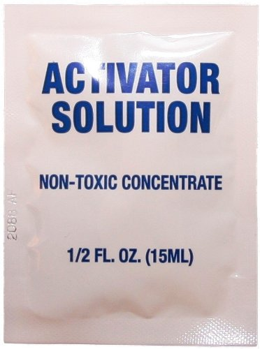 4 Activator Solution Packets for Ultrasonic Silver Cleaning Kit - J681PPFWEB