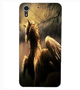 ColourCraft Fantasy Animal Design Back Case Cover for HTC DESIRE 626