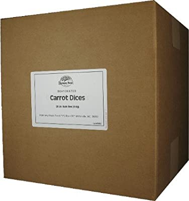 Dehydrated Carrots (20 lb. Bulk Box) - For Cooking, Camping, Hiking, Food Storage, Emergency Preparedness
