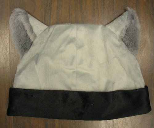 Gray/BLACK CAT ANIME KITTY GOTH RAVE COSPLAY CAP HAT