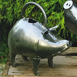 Hand Crafted Metal Baby Pig Watering Can