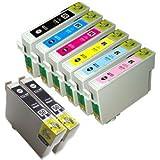 【むさしのメディアオリジナル】 エプソン互換 IC6CL50+BK2 6色セット+黒2個 インクカートリッジ ICチップ(残量表示機能)付き [フラストレーションフリーパッケージ(FFP)]