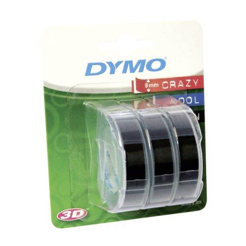 dymo-s0847730-vinyl-prageetiketten-rolle-9mm-x-3m-weisser-druck-auf-schwarzem-untergrund-selbstklebe