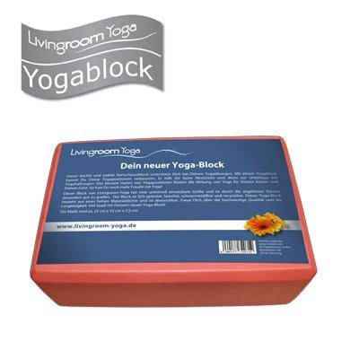 Yoga-Block / Yoga Klotz von Livingroom Yoga - leicht und stabil, schadstoffgeprüft, 23x15x7,5cm
