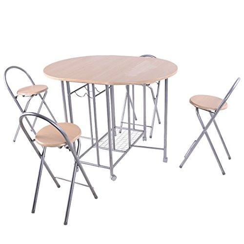 Giantex 5pc foldable dining set table and 4 chairs for Kitchen set node attributes