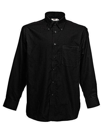 Fruit Of The Loom - Camicia Maniche Lunghe - Uomo (XXXL) (Nero)
