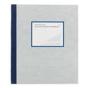 "NATIONAL Brand Laboratory Notebook, 4 X 4 Quad, Gray, Carbonless, 11 x 9.25"" 100 Sets (43644)"
