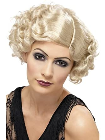 1920's Flapper Blonde Curly Adult Costume Wig