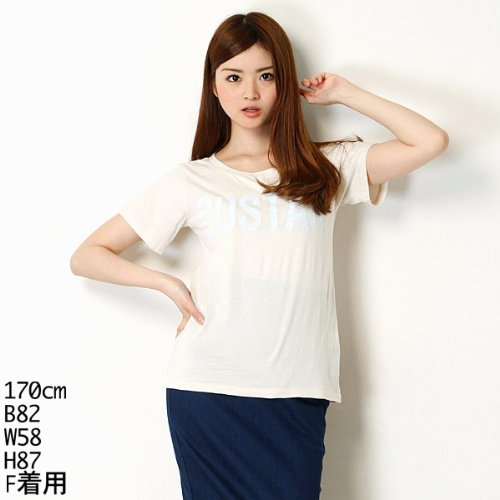 179/WG(179 WG) クラックプリント半袖Tシャツ【オフ/FREE】
