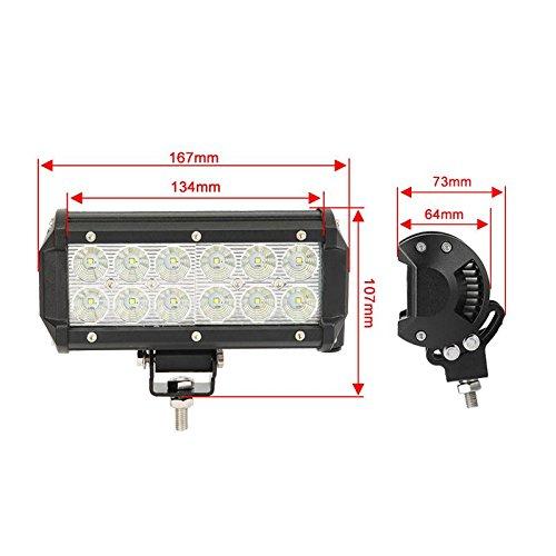 auxbeam 32 quot 180w curved led light bar 5d lens 18000lm cree spot flood combo beam driving light