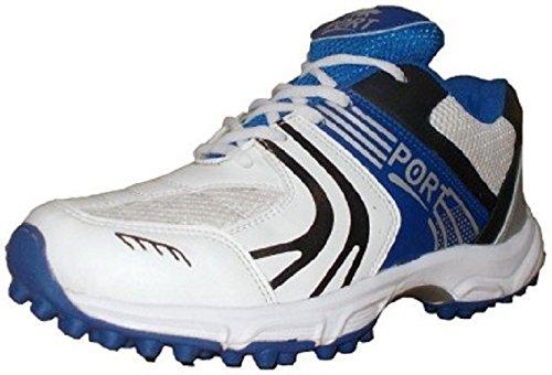 Port Mens Rezer White PU Cricket Shoes (Size 9 ind/uk)