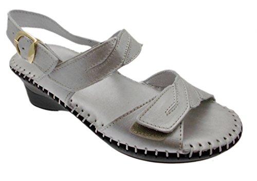 sandalo art M2580 avorio grigio perla metal extra large regolabile silicone 41 grigio
