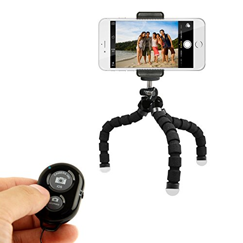 KobraTech Mini Phone Tripod Stand - TriFlex Mini - Flexible iPhone Tripod for Any Smartphone (Foldable Camera Tabletop compare prices)