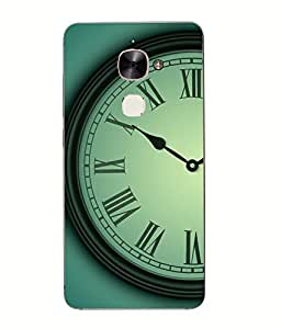Make My Print Time Printed Green Hard Back Cover For Letv Le Max 2