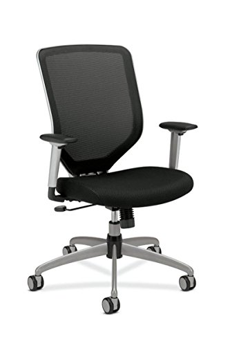 HON Boda High-Back Work Chair-Black Mesh for Office or Computer Desk