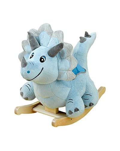 Rockabye Kid's Fossil Dinosaur Ride-On Rocker, Multi