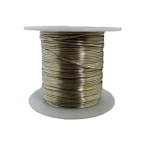 """Tinned Copper Wire, Buss Wire, 18 Awg, 1.0 Lbs, 199' Length, 0.0403"""" Diameter, Silver, Bus Bar Wire"""
