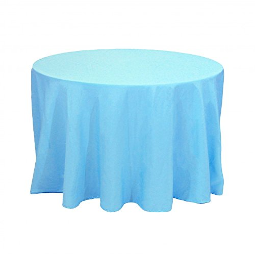 Koyal Round Polyester Tablecloth, 90-Inch, Turquoise front-749321