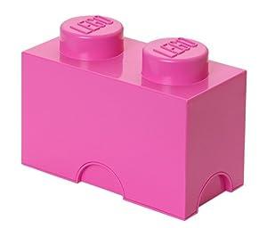 Lego 40021739 - Caja en forma de bloque de lego 2, color rosa [importado de Alemania]   Más información y revisión del cliente