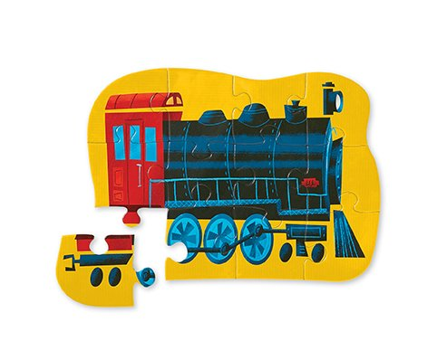 Crocodile Creek 12 pc Mini Shaped Puzzle/Locomotive