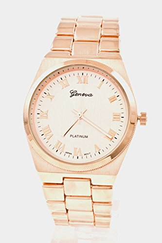 Karmas Canvas Round Face Simple Watch (Rose Gold)