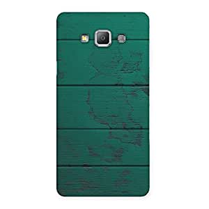Stylish Green Wood Texture Print Back Case Cover for Galaxy A7