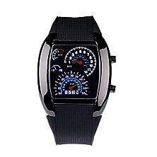 buy Binmer(Tm)Men Women Watches Aviation Turbo Dial Flash Led Watch Sport Wristwatch Black