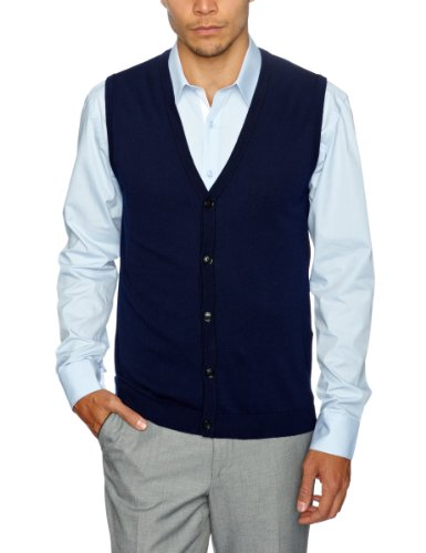 Selected Homme Milan Button Slipover Men's Vest Maritime Navy Large