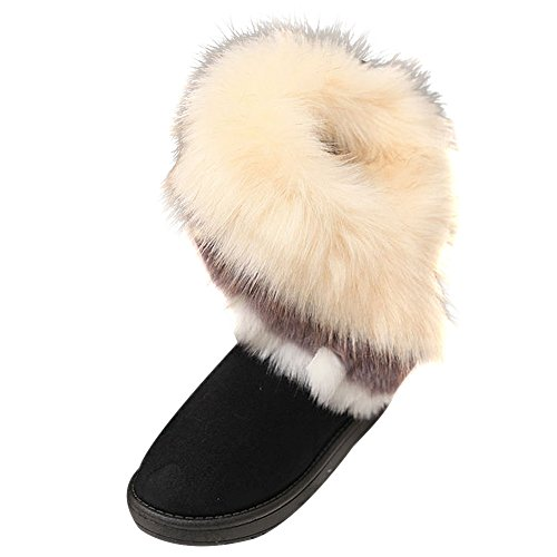 Vonfon Womens Trendy Warm Keep Furry Short Snow Boot Shoes