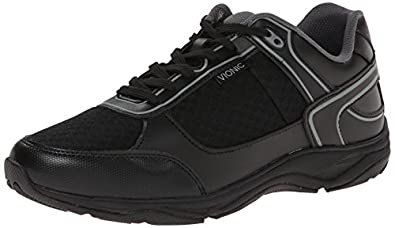 Vionic with Orthaheel Technology Mens Endurance Walking Shoes Black Size 7
