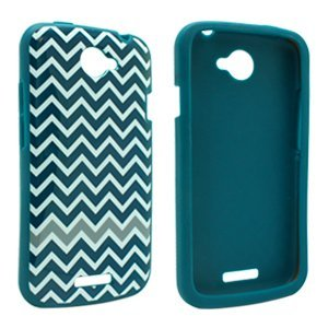 T-Mobile D30 Htc One S 4G (Only From T-Mobile) Flex Protective Cover Case Skin Shell D3O Ultimate Impact Protection For Tmobile Htc One S D-30 Tech 21 Teal With White Stripes