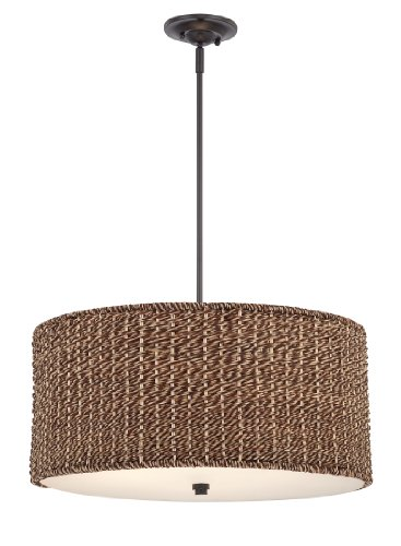 Quoizel BRB2822K Bradbury 4-Light Rod Hung Pendant Lamp, Mystic Black