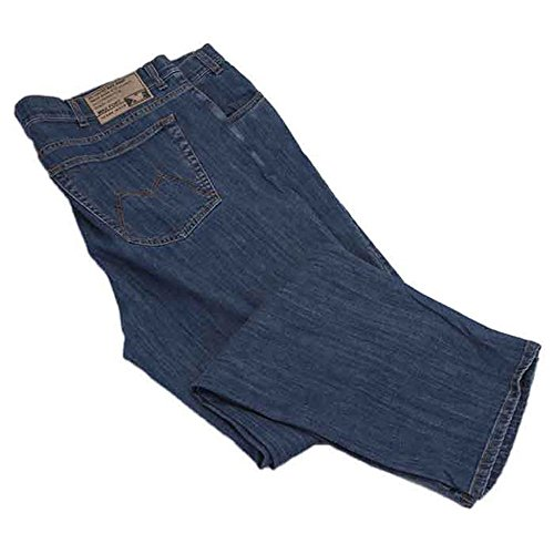 Pantalone jeans taglie forti uomo Maxfort 2291 SW stretch - Blu, 60 GIROVITA 120 CM