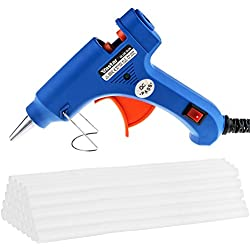 Vastar Hot Glue Gun with 30 Pieces Melt Glue Sticks Melting Adhesive Glue Gun Kit for DIY Small Craft and Quick Repairs in Home & Office, 20 Watt
