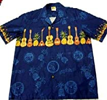 Paradise Ukulele Shirt in Blue (M)